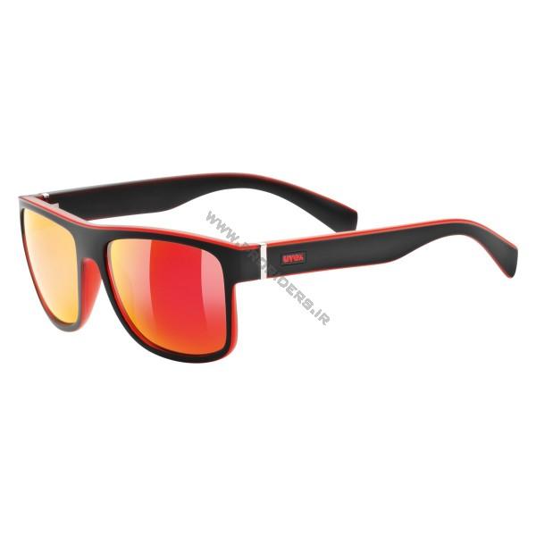 عینک Uvex lgl 21 مشکی مات قرمز