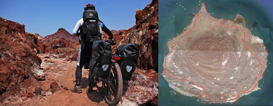 سفر با دوچرخه به جزیره هرمز