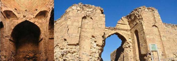 دیوارکاروانسرای قلعه سنگی