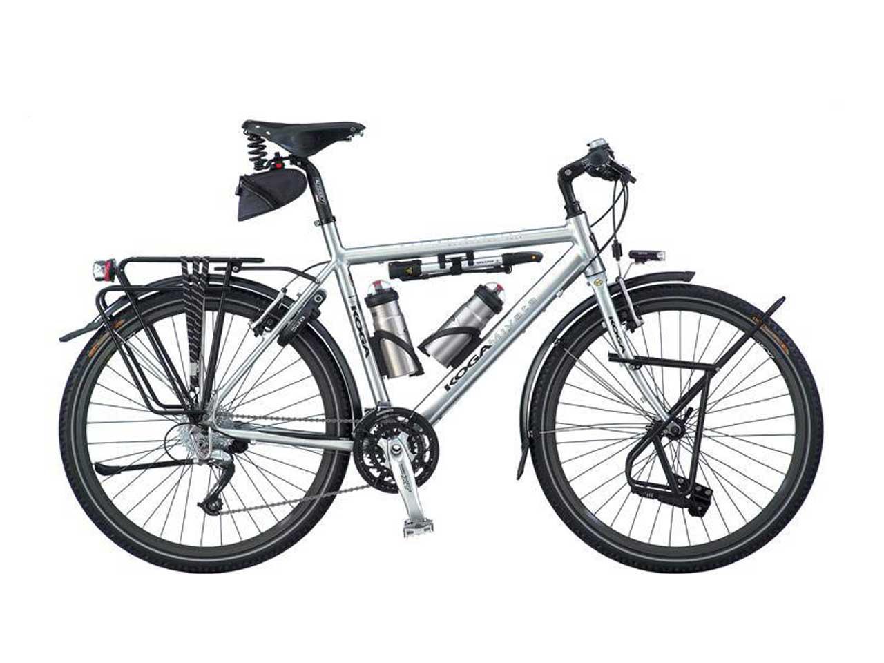 دوچرخه سایکل که تجهیرات مورد نیاز بر روی آن نصب شده است