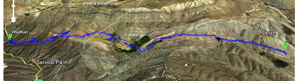 نقشه دسترسی به واریش